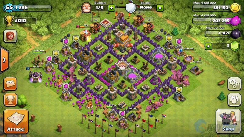 Upgrade Town Hall 7 - SHIROHIGE Base Clans
