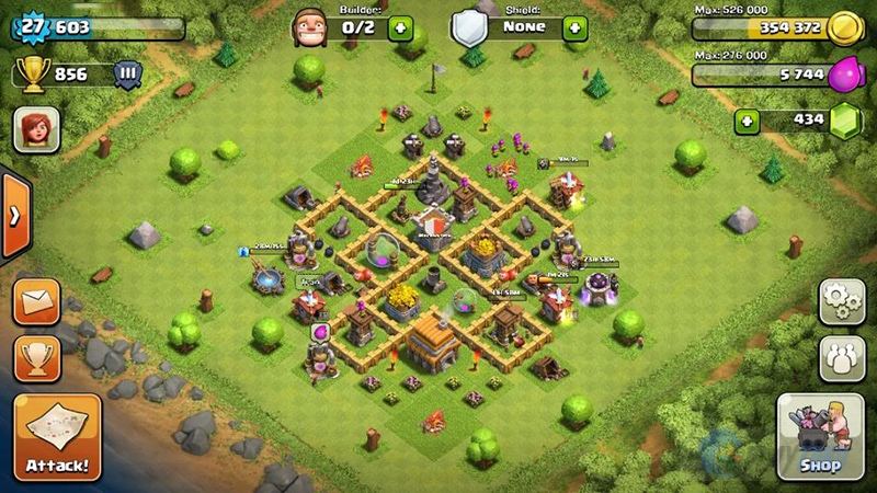 Upgrade Town Hall 5 - SHIROHIGE Base Clans