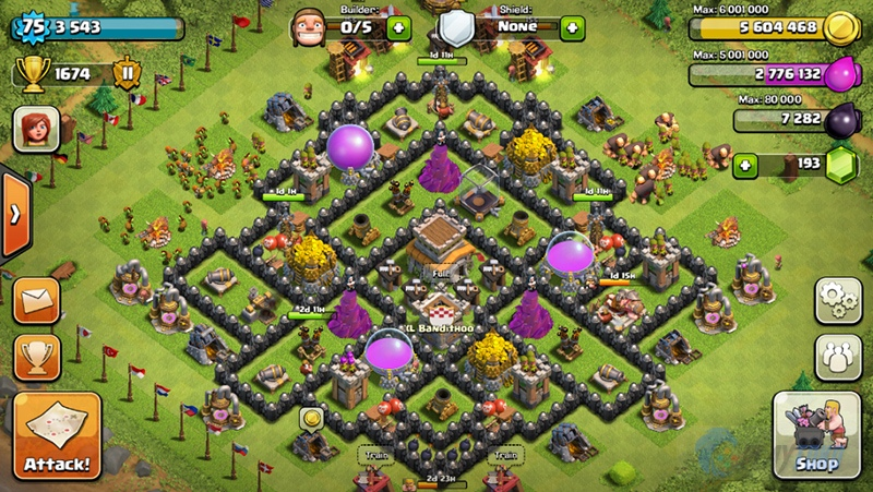 Upgrade Town Hall 8 - SHIROHIGE Base Clans